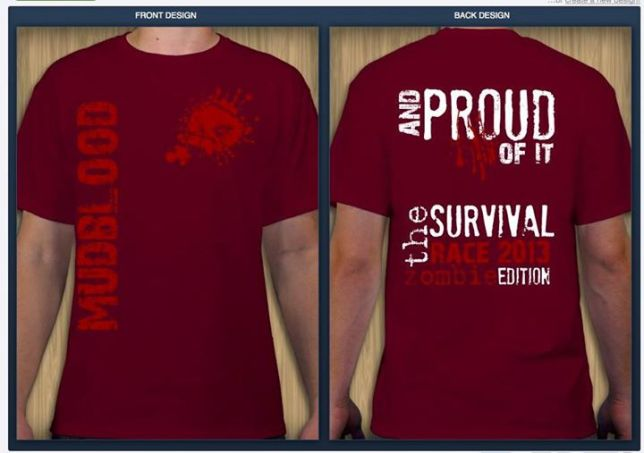 Tshirt Design : Survival Race 5k Team Shirt