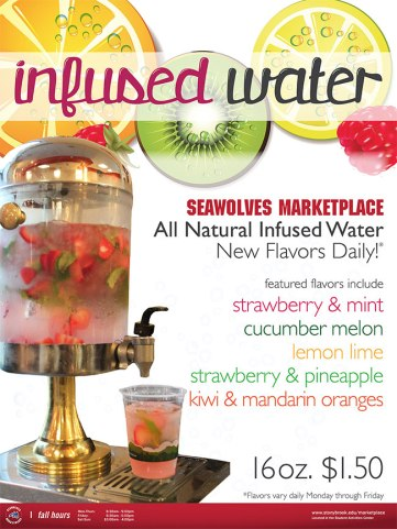 Infused water at Stony Brook University