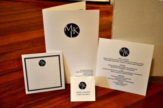 Bar Mitzvah Stationery Suite