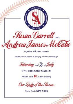 Baseball Weddin Invitation
