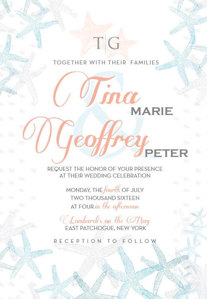 Seashore Wedding Invitation