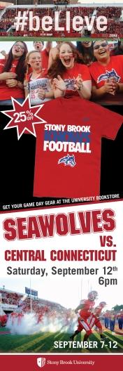 2' x 6' Vertical Poster promoting Spirit Apparel for Seawolves Football