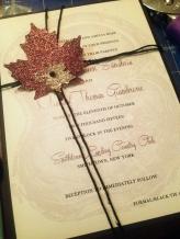 Glittered Rustic Wedding Invitations