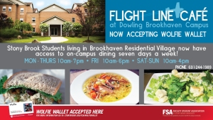 Flight Line Cafe at Dowling College Ad