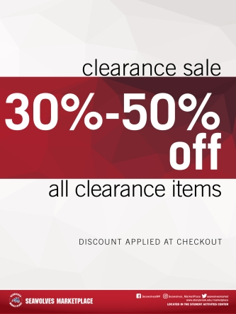 Clearance Poster Design