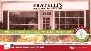 Fratelli's Pizza Deli Catering Wolfie Wallet Ad