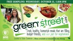 Green Street Sampling Event Promotion Design