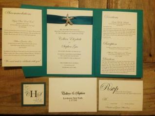 Starfish Wedding Invitation Suite