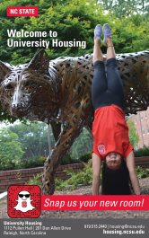University Housing Print Ad for Student Guide to Campus at NC State