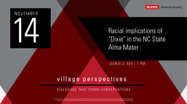 Event Poster for NC State Village Initiatives