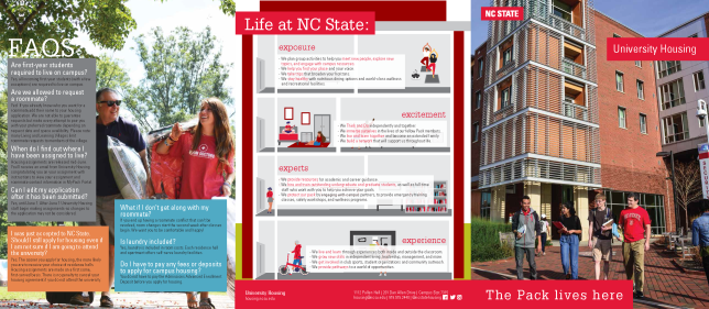 University Housing at NC State, Trifold information brochure